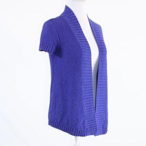 ANN TAYLOR LOFT Sweaters - Purple ANN TAYLOR LOFT cap sleeve shrug sweater XS